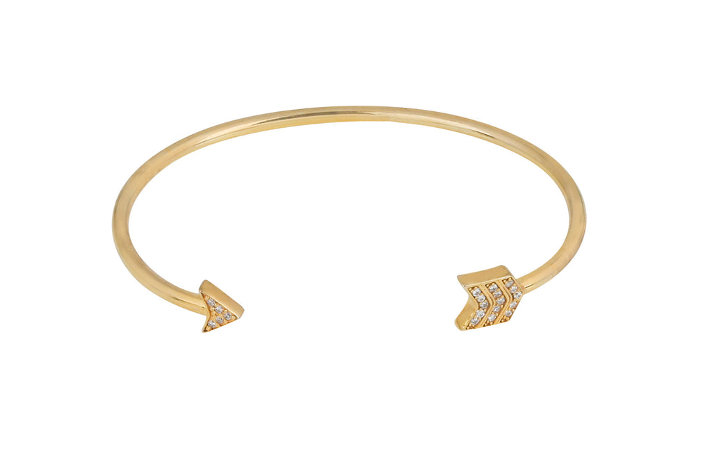 Arrow Bangle in Gold