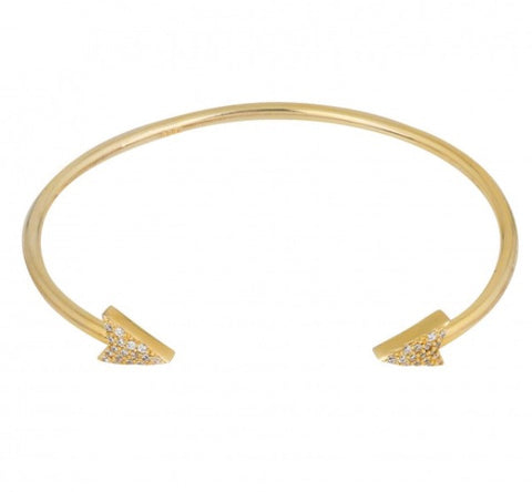 Arrow Connect Bangle in Gold