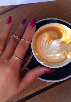 Chevron Ring in Gold