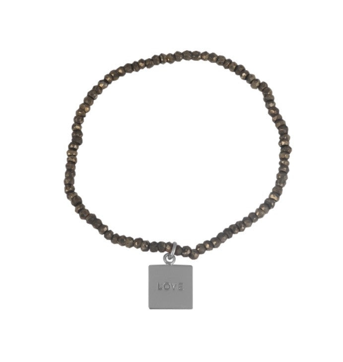 Love Fools Gold Pyrite Bracelet in Sterling Silver