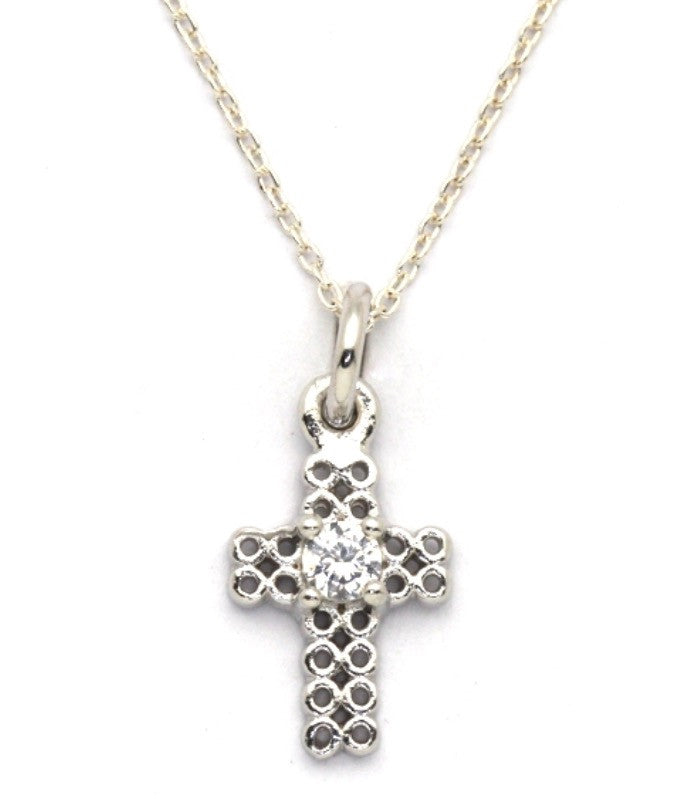 Free Spirit Cross Necklace in Rose Gold