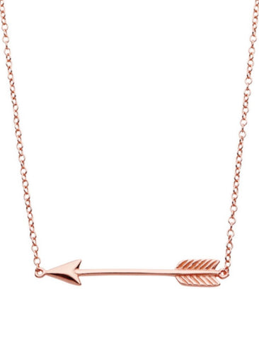 Arrow Necklace in Rose Gold
