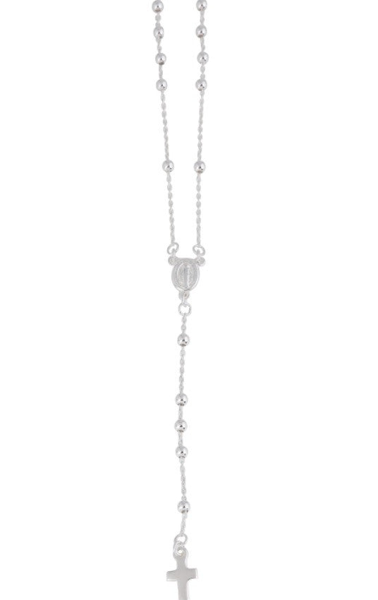 Rosary Necklace in Sterling Silver