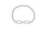 Infinity Diamonte Beaded Bracelet in Sterling Silver