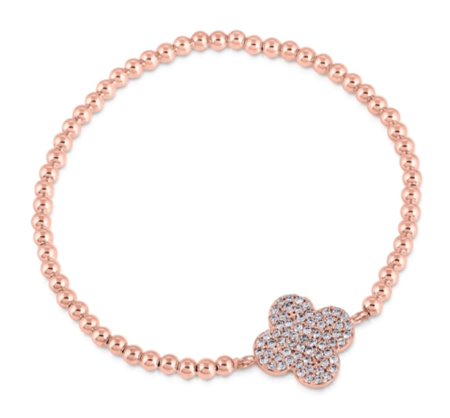 Keep The Faith Beaded Bracelet in Rose Gold