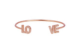 L O V E Bangle in Rose Gold
