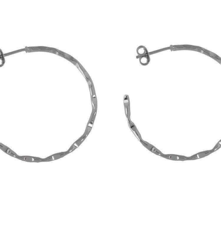 Love Hoop Earrings in Sterling Silver