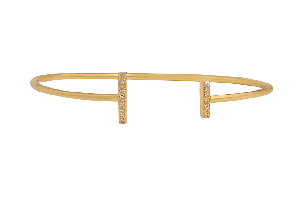 Met You Before Bangle in Gold