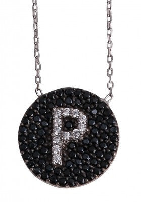 "Letter ""P"" Necklace in Sterling Silver"