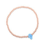 Opalite Hamsa Beaded Bracelet in Rose Gold