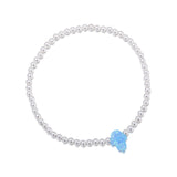 Opalite Hamsa Beaded Bracelet in Sterling Silver