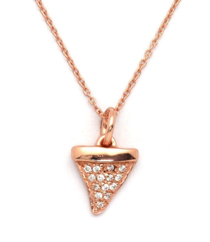 Shark Tooth Necklace in Rose Gold