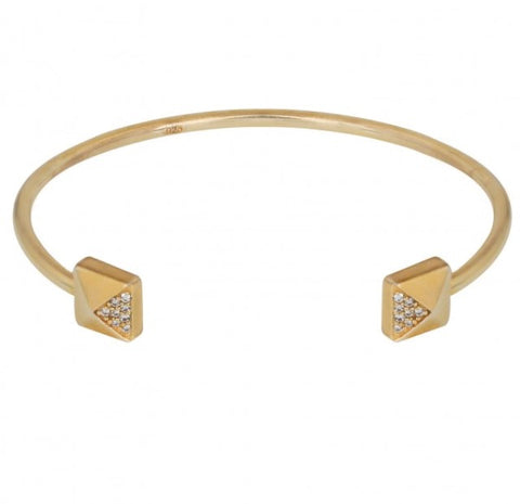 Square Bangle in Gold