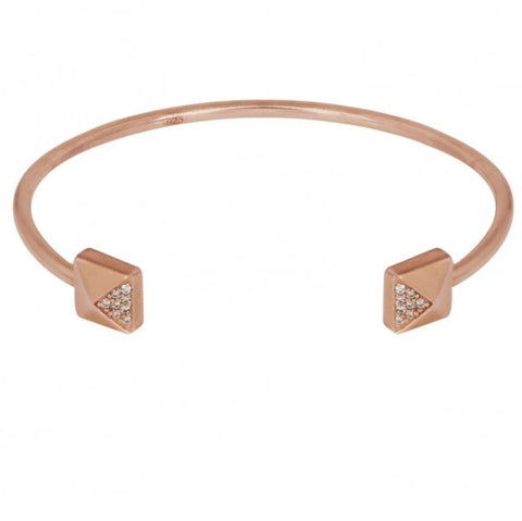 Square Bangle in Rose Gold