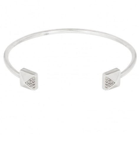 Square Bangle in Sterling Silver