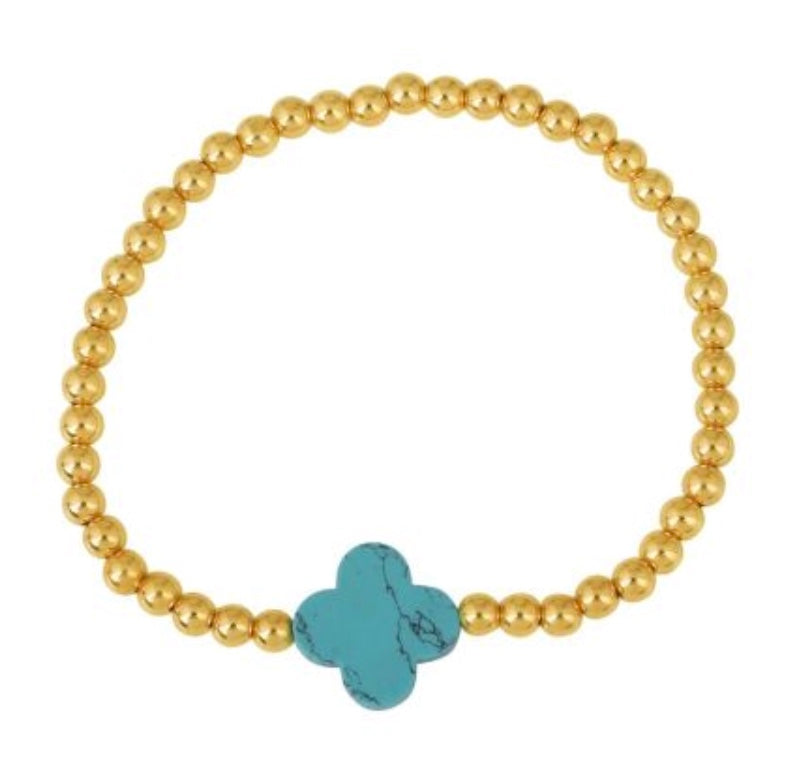 Summer Loving Beaded Bracelet in Gold