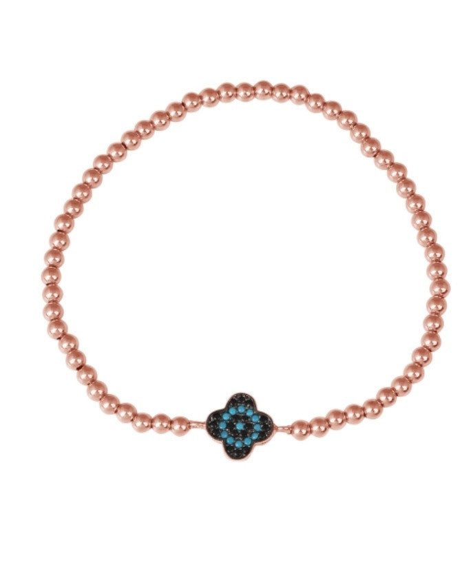 Lucky Stone Bracelet in Rose Gold