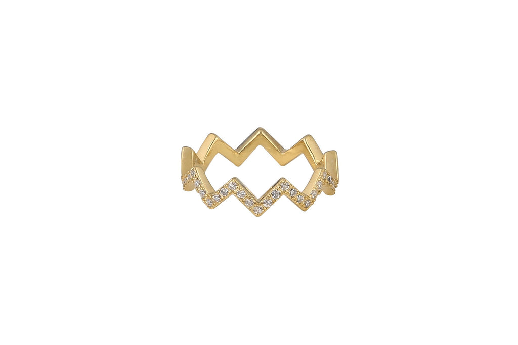 Chevron Ring in Rose Gold