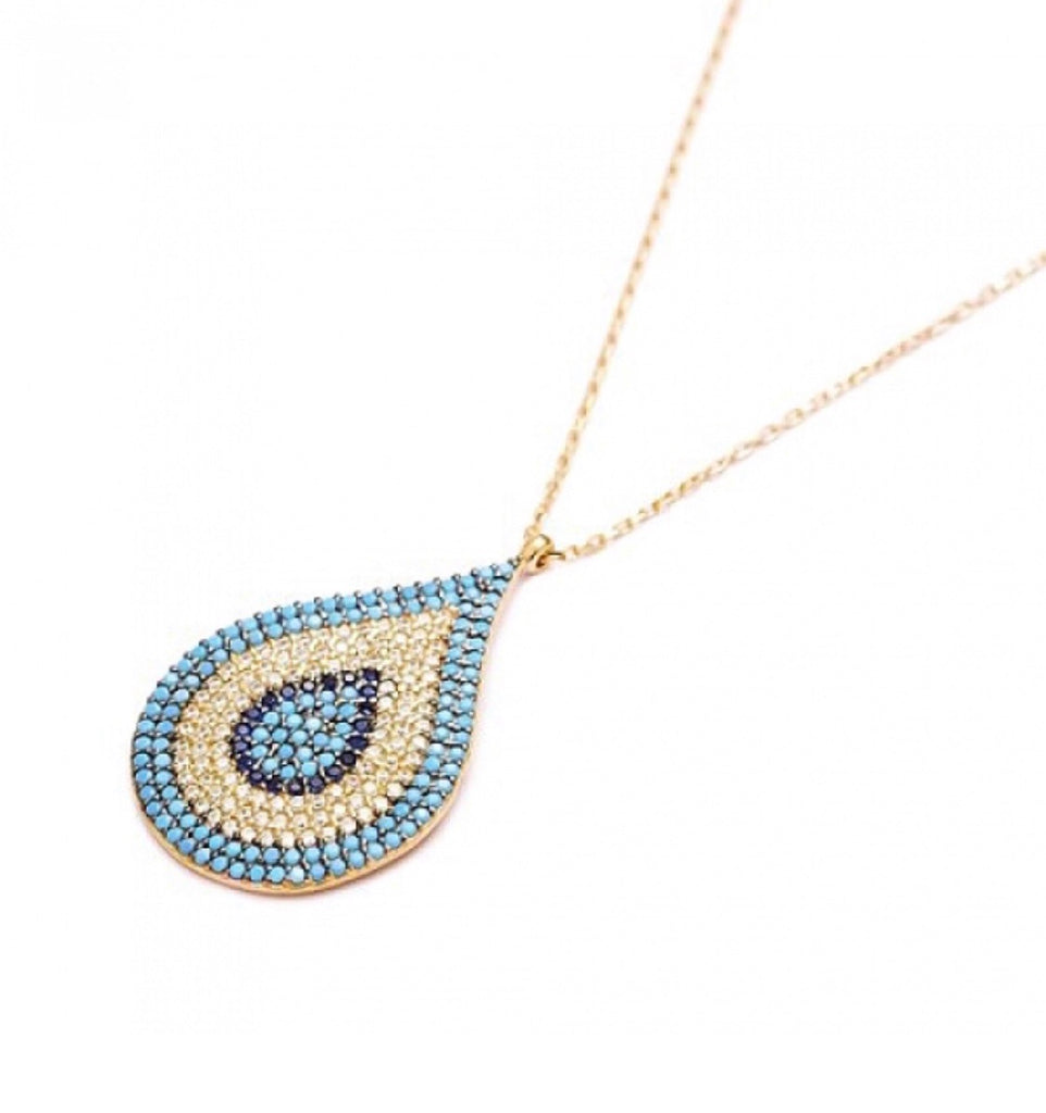 Nano Teardrop Necklace in Gold