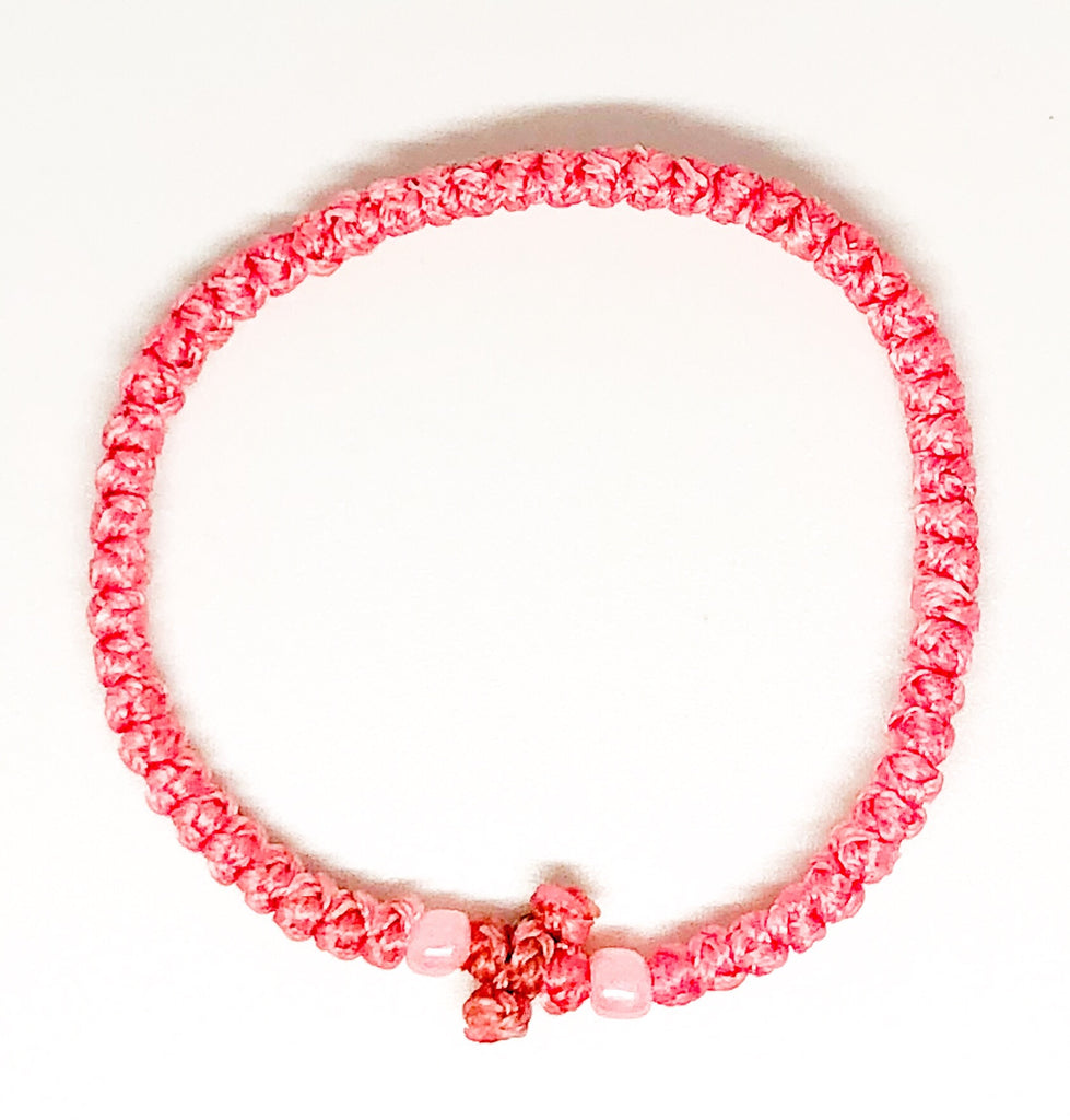 Pink Komboskini with Pink Beads