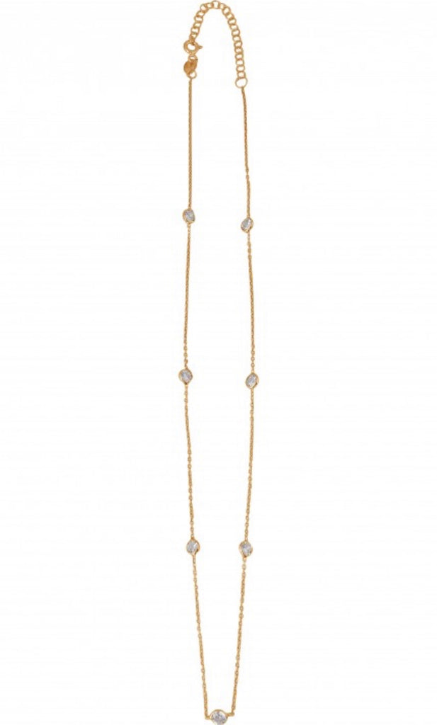 Diamonte Chain Necklace in Gold