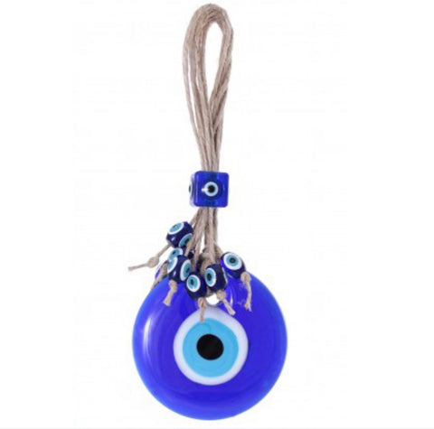 Good Luck Evil Eye Glass Ornament