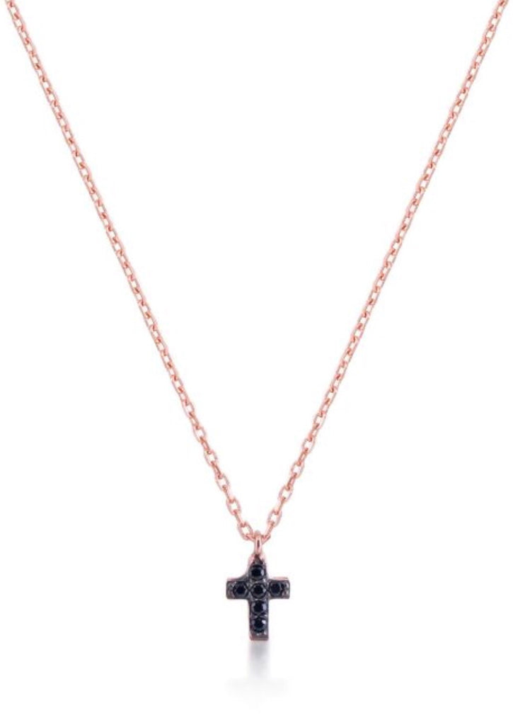 Mini Cross Necklace in Sterling Silver