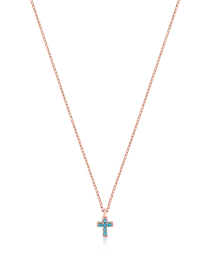 Mini Nano Cross Necklace in Sterling Silver