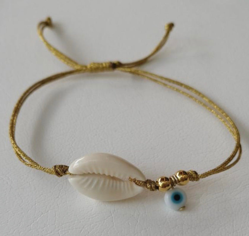 Cowrie Shell with Mati Bracelet