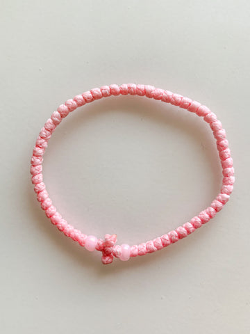 Baby Pink Komboskini with Pale Pink Beads