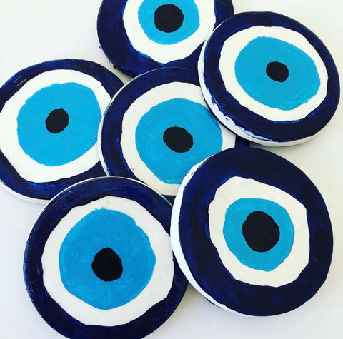 Evil Eye Table Coasters set of 6