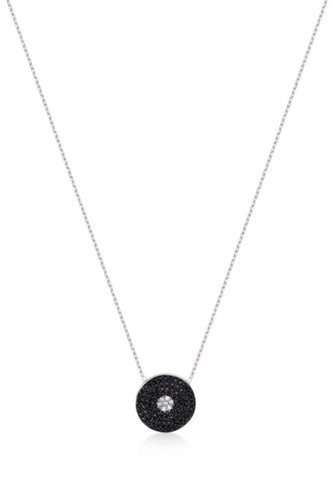 Black Diamond Necklace in Sterling Silver