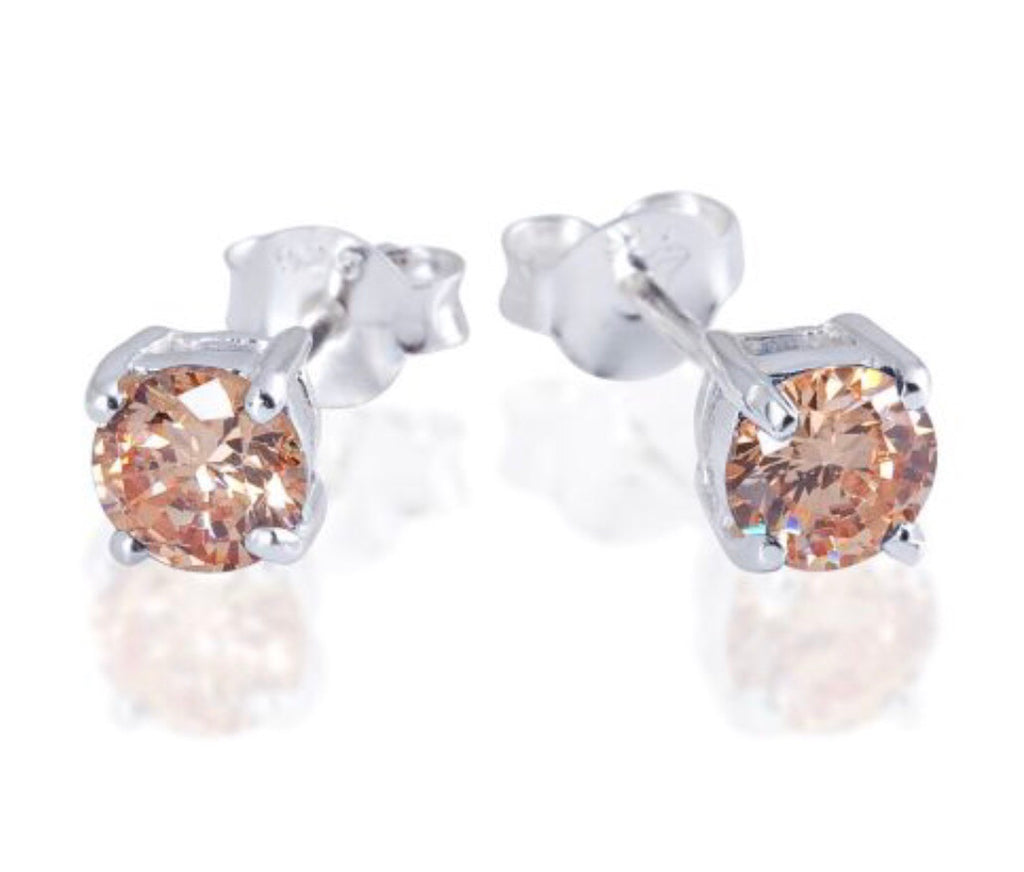 Topaz Stud Earrings in Sterling Silver