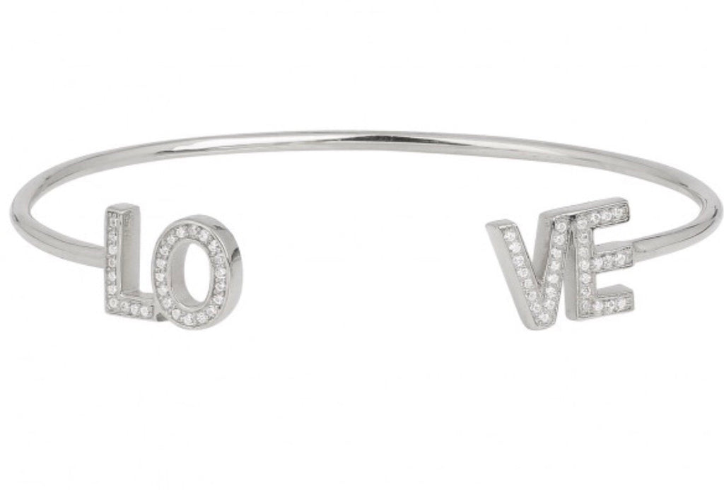 L O V E Bangle in Sterling Silver
