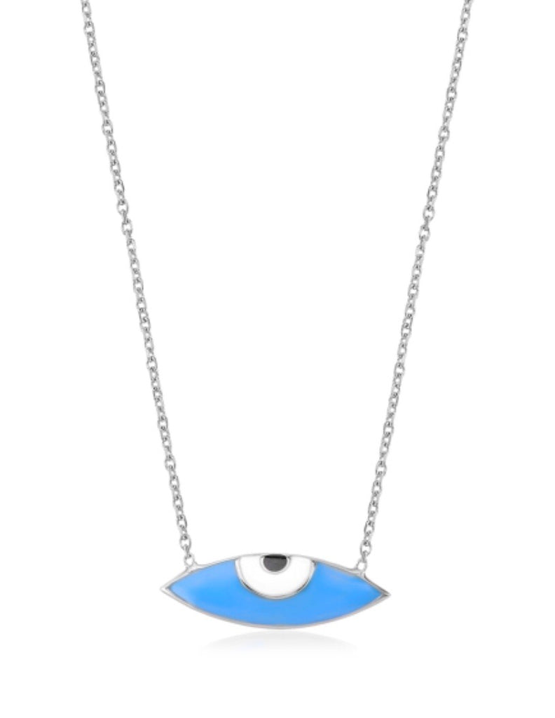 Look At Me Evil Eye Necklace in Sterling Silver