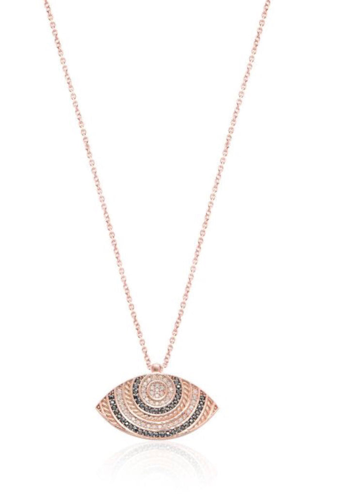 Mykonos Eye Necklace in Rose Gold