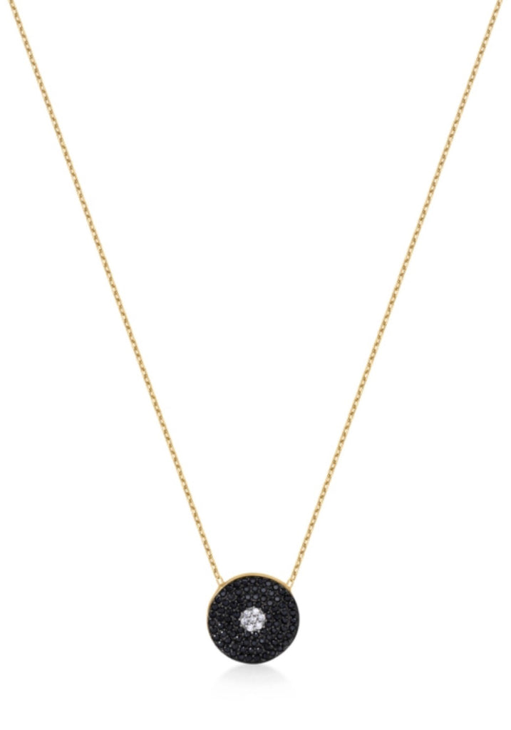 Black Diamond Necklace in Gold