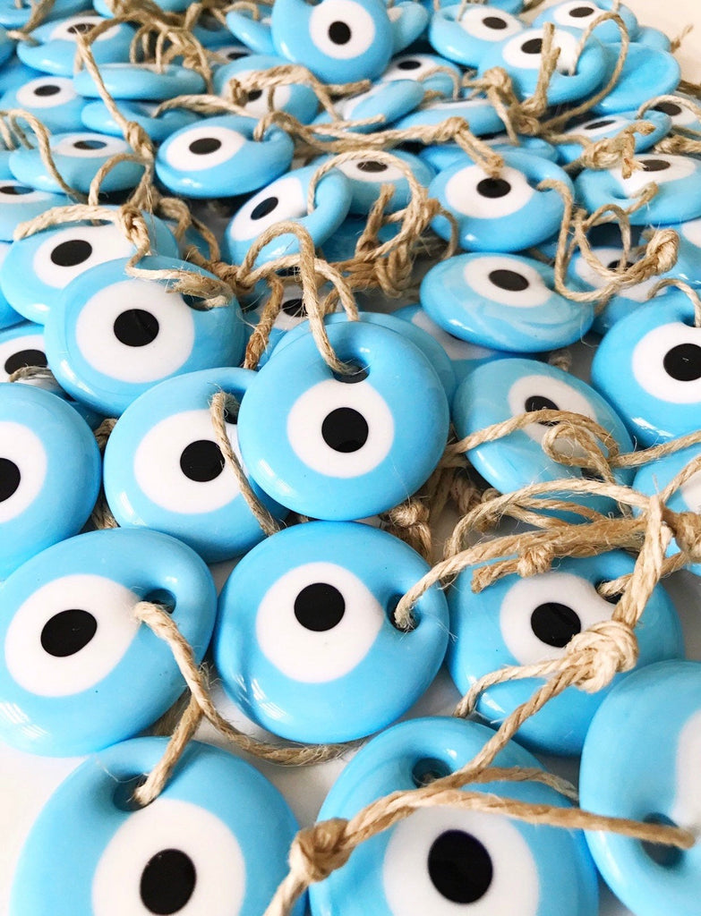 Mini Light Blue Evil Eye Ornament