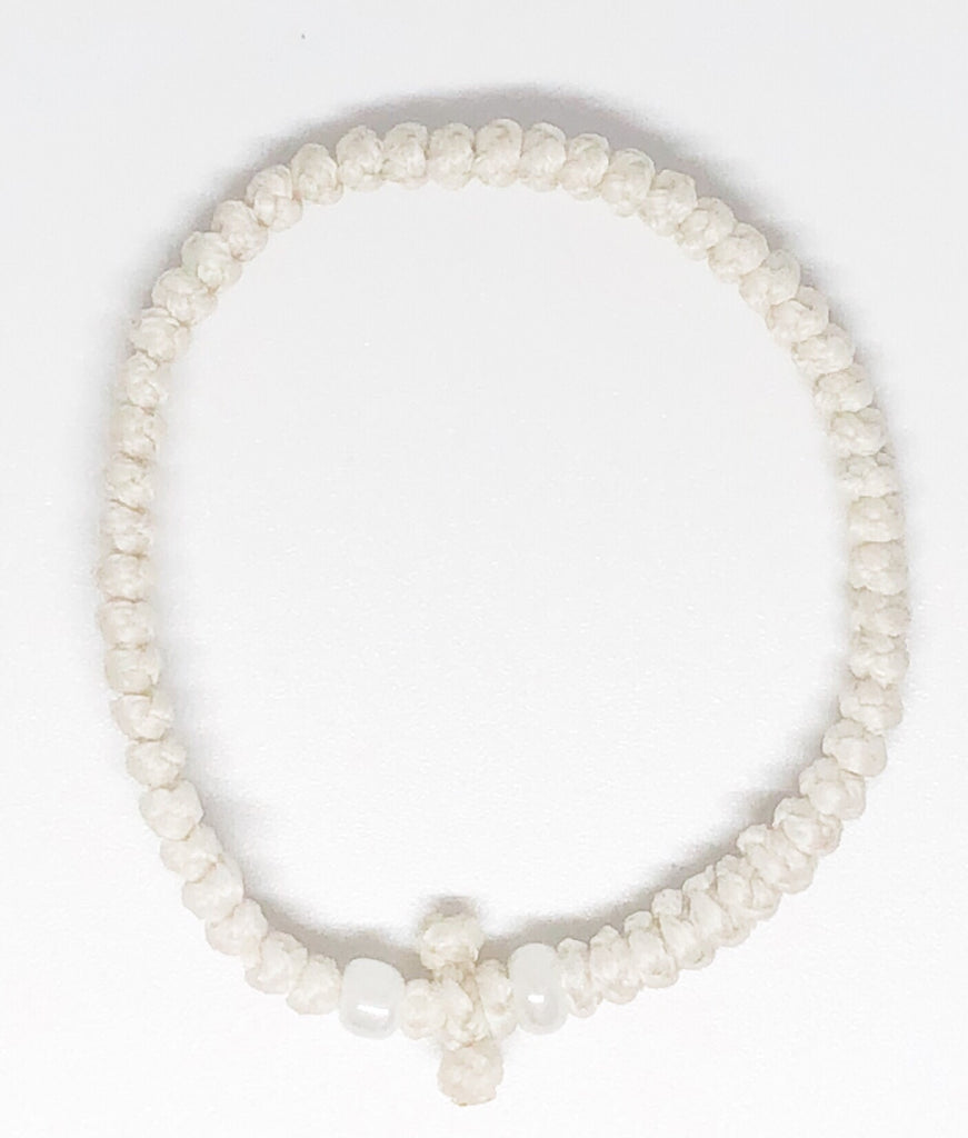 White Komboskini with White Beads