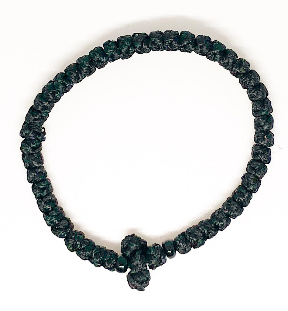 Black Komboskini with Black Beads