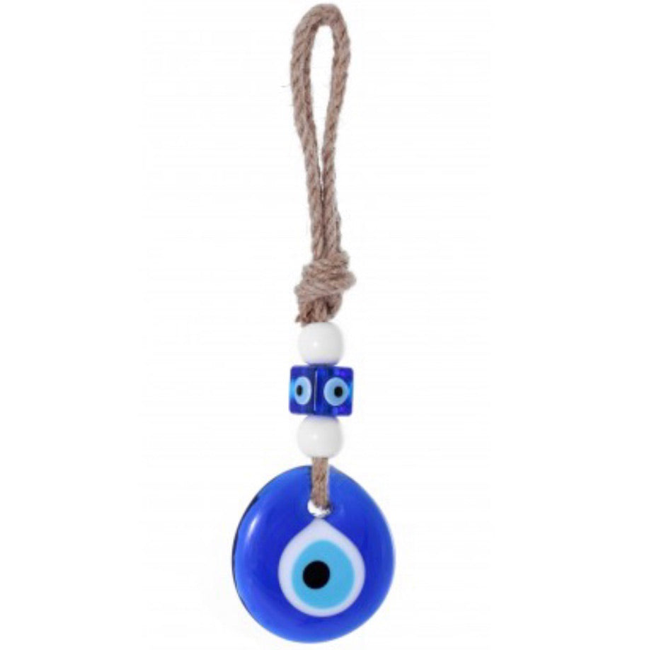 Greek Blue Evil Eye Glass Ornament