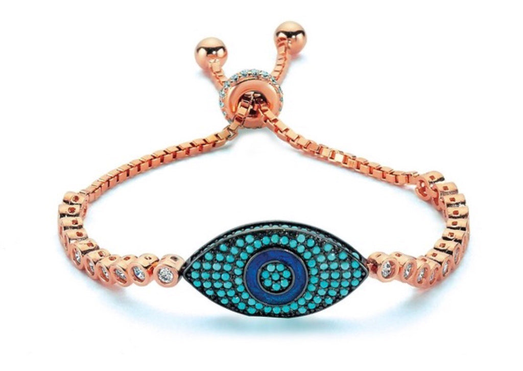 Lucky Summer Eye Bracelet in Rose Gold
