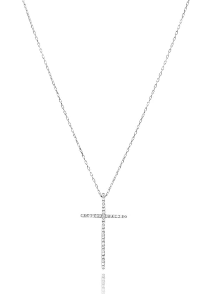 Mattina Cross Necklace in Sterling Silver