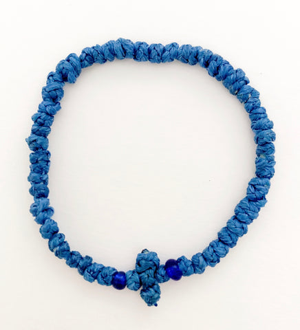 Blue Komboskini with Royal Blue Beads