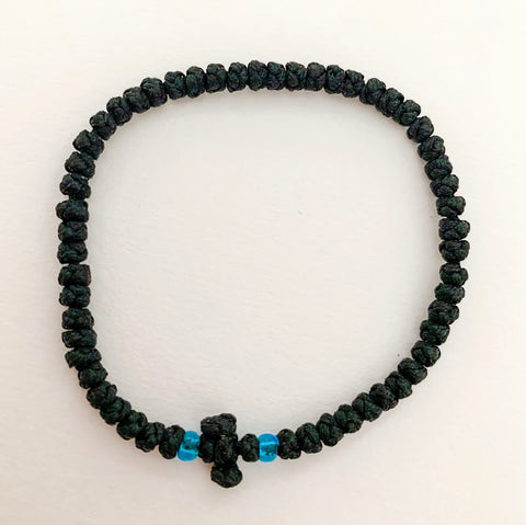 Black Komboskini with Turquoise Beads