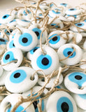 Mini White Evil Eye Ornament