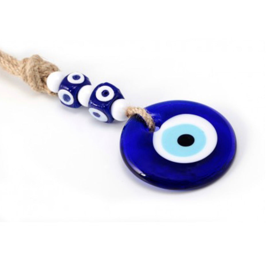 Greek Evil Eye Glass Ornament