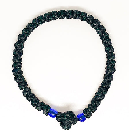 Black Komboskini with Dark Blue Beads