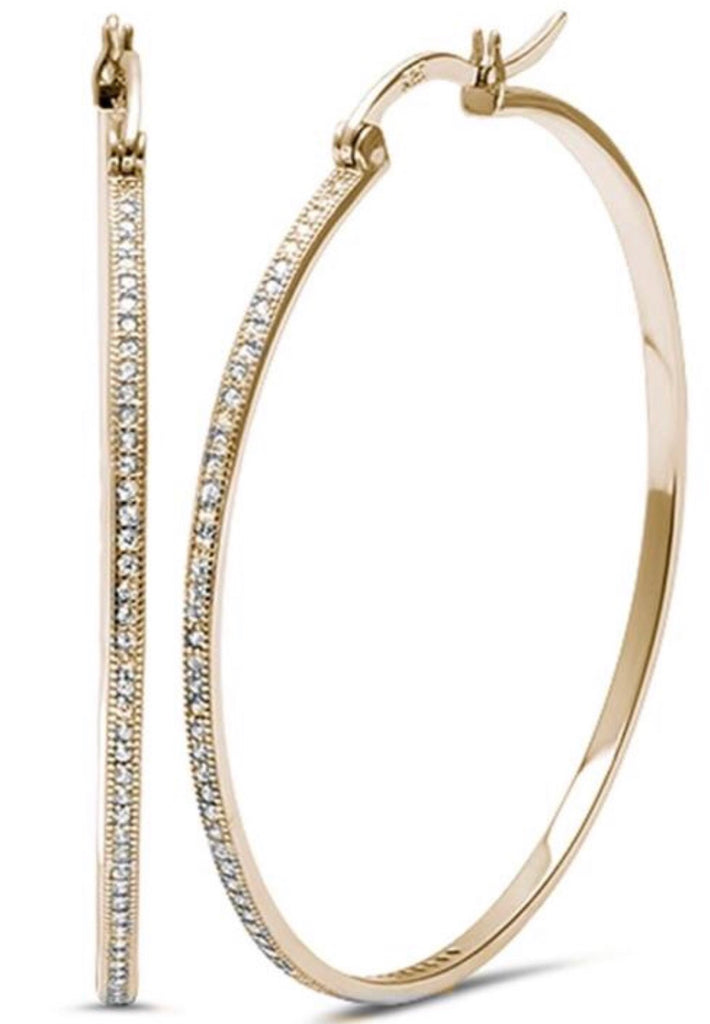 Diamonte Hoops in Gold