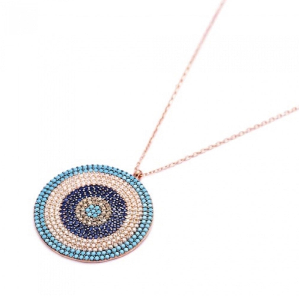 Big Round Evil Eye Necklace